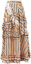 Isabela Capeto stripe ruffled skirt - women - Cotton - 38