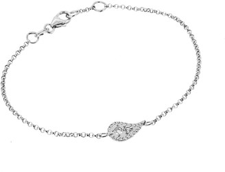 Yvonne Henderson Jewellery Paisley Charm Bracelet With White Sapphires Silver
