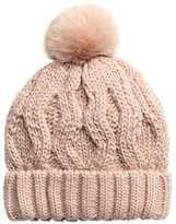 H&M Cable-knit Hat - Powder pink - Ladies