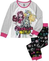 Monster High Girls' 2pc Fleece Pajama Set (10/12)