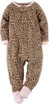Carter's Girls Footed 1 Piece Fleece Sleeper Pajamas