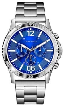 Caravelle Designed by Bulova Men's Chronograph Stainless Steel Bracelet Watch 44mm