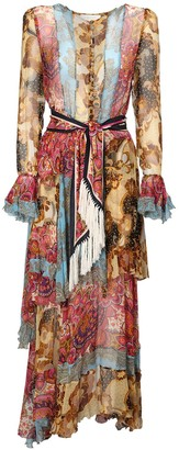 Zimmermann Fiesta Ruffled Silk Chiffon Dress