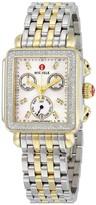 Michele Signature Deco Chronograph Diamond Ladies Watch
