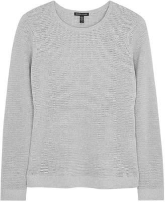 Eileen Fisher Grey metallic-knit wool-blend jumper