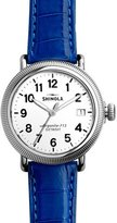 Shinola Runwell Coin Edge Watch with Blue Alligator Strap, 41mm
