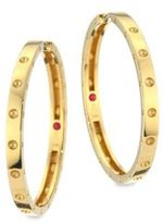 Roberto Coin Symphony Pois Mois Large 18K Yellow Gold Hoop Earrings/1.25