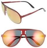 Carrera Men's Eyewear 61Mm Aviator Sunglasses - Matte Red/ Grey Gradient