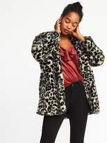 Old Navy Collarless Faux-Fur Coat for Women