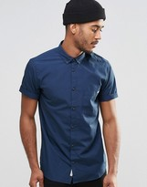 Jack and Jones Short Sleeve Shirt with Button Down Collar