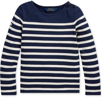 Polo Ralph Lauren Little Girls Striped Cotton Jersey Top
