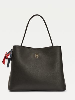 Tommy Hilfiger Signature Ribbon Slouch Bag