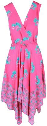 Maje Rushia Floral-Print Polyester Dress