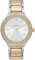 Charter Club Women's Two-Tone Pavé Bracelet Watch 38mm, Only at Macy's