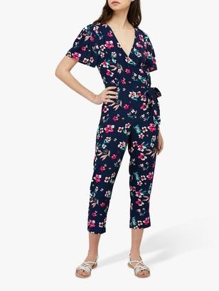 Monsoon Maisy Floral Jumpsuit, Navy