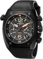 Bell & Ross Men's BR-02-94-CARBON Marine Chronograph Dial Watch Watch