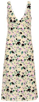 Plan C Floral-printed crApe midi dress