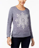 Style&Co. Style & Co Embellished Snowflake Sweatshirt, Created for Macy's