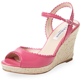 LK Bennett Seve Scalloped Leather Wedge