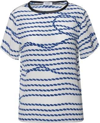 Somerville . Lasso Silk Tee In Blue & White Stripe