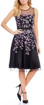 Decode 1.8 Applique Fit-and-Flare Dress