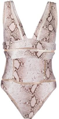 Zimmermann Snake-Print Swimsuit