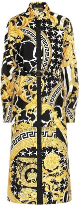 Versace Baroque silk midi dress