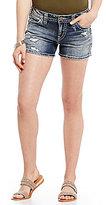 Silver Jeans Co. Destructed Berkley Stretch Denim Shorts