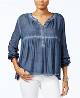 Tommy Hilfiger Gathered-Waist Swing Top, Only at Macy's