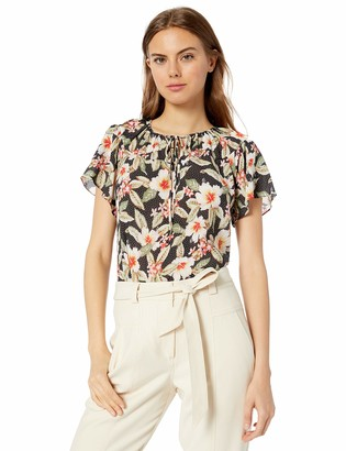 Rebecca Taylor Women's Sleeveless Kamea Floral Top