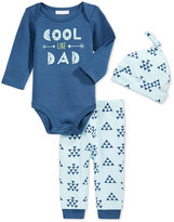 First Impressions 3-Pc. Cool Like Dad Hat, Bodysuit & Pants Set, Baby Boys', Only at Macy's