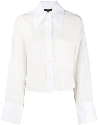 Jejia Button Up Contrasting Cuffs Shirt