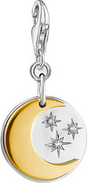 Thomas Sabo Moon and Stars 18ct gold-plated and sterling silver charm