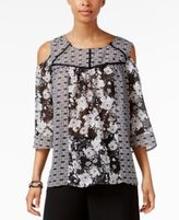 NY Collection Cold-Shoulder Top