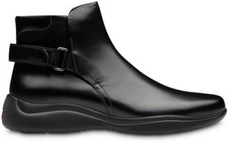 Prada Back Strap Ankle Boots