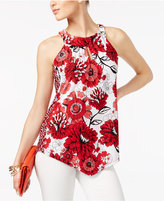 INC International Concepts Petite Printed Halter Top, Created for Macy's