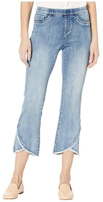 FDJ French Dressing Jeans Statement Denim Pull-On Flare Tulip Hem Crop in Moody Blue (Moody Blue) Women's Jeans