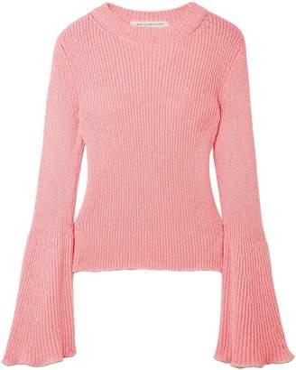 Philosophy di Lorenzo Serafini Bead-embellished Ribbed-knit Sweater
