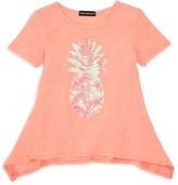 Bloomie's Girls' Sequined Pineapple Sharkbite Top - Sizes 2-6X - 100% Exclusive