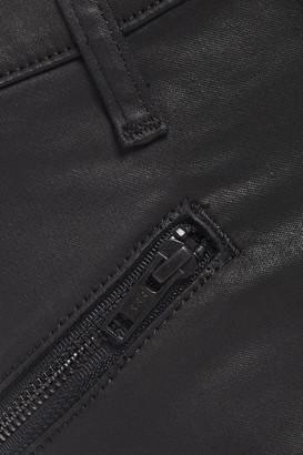Current/Elliott Coated Mid-rise Skinny Jeans