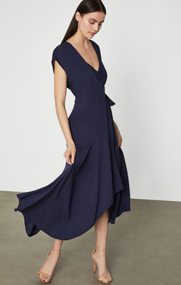 BCBGMAXAZRIA Crepe Satin Wrap Dress