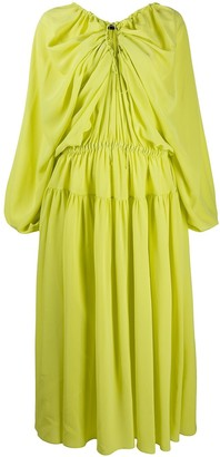 Rochas Gathered Drawstring Dress