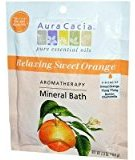 Aura Cacia Aromatherapy Mineral Bath Relaxing Sweet Orange -- 2.5 oz by