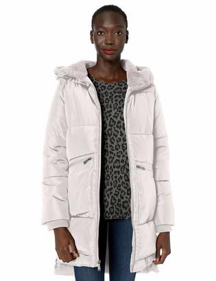 BCBGeneration Women's Boxed Quilt Zip Front A-Line Puffer Coat