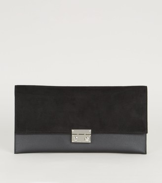 New Look Suedette and Leather-Look Clutch