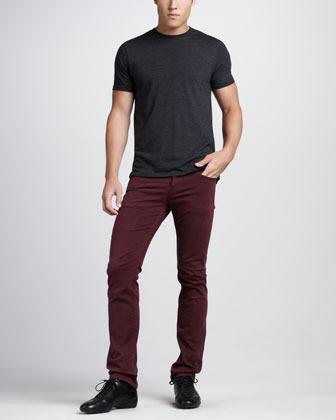 Hudson Byron Five-Pocket Pants, Port
