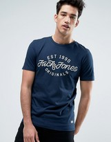 Jack and Jones Originals Crew Neck T-shirt with Graphic Print