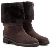 Loro Piana Abigail Suede Boots With Fur