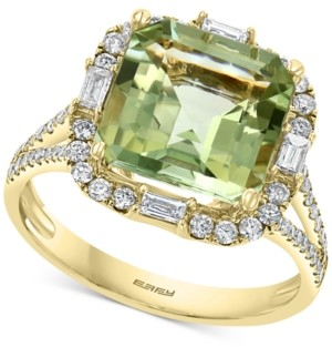 Effy Green Quartz (3-7/8 ct. t.w.) & Diamond (1/2 ct. t.w.) Ring in 14k Gold