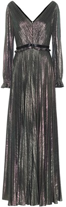 Marchesa Metallic lame gown
